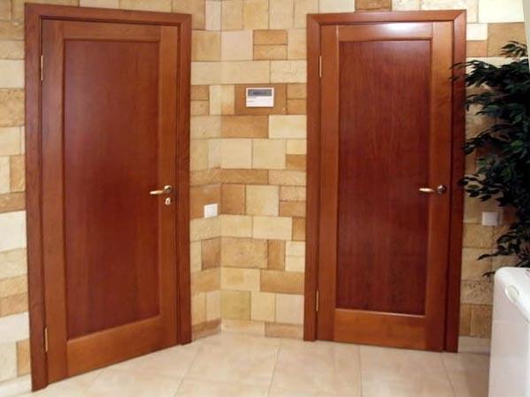 Производство дверей из шпона