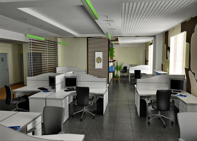 Работающие решения для офисного интерьера