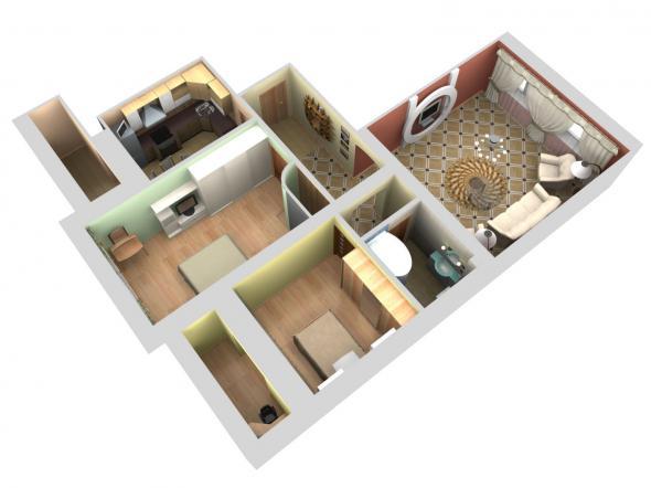 Разнообразность планировки в жилых домах.