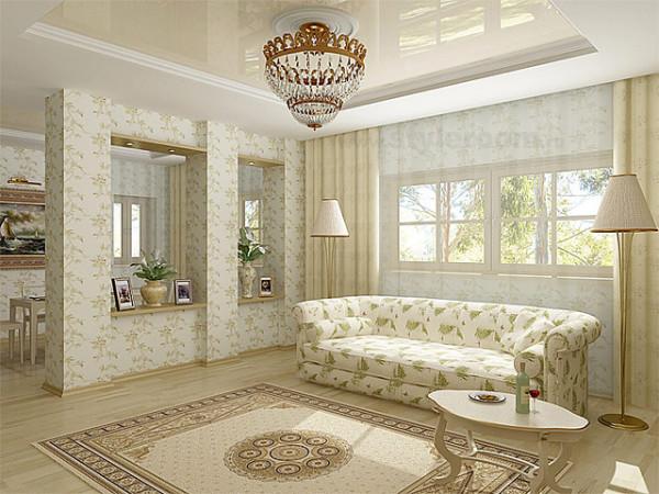 Ремонт в гостиной комнате