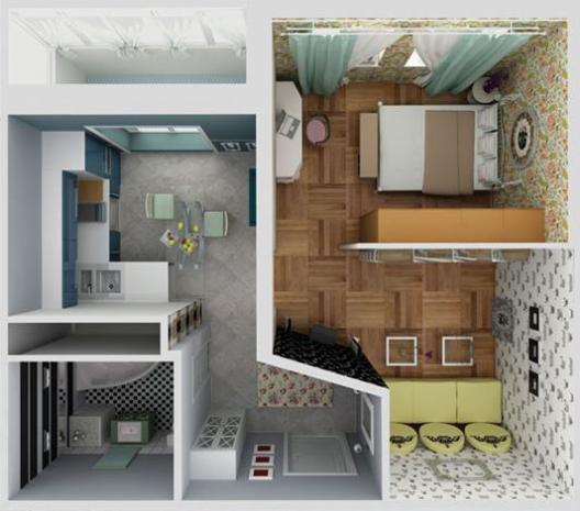 Ремонт  в однокомнатной квартире: идеи и реализация