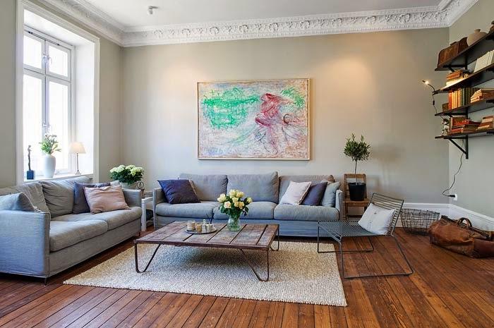 гостиная, оформленная в скандинавском стиле