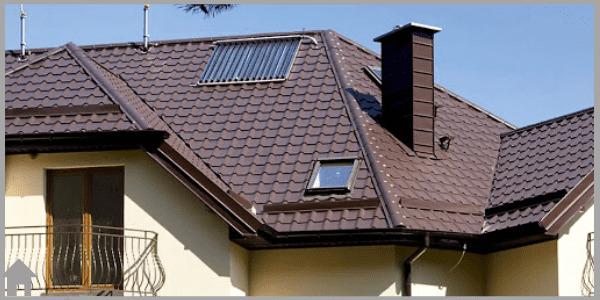 крыша дома - из металлочерепицы