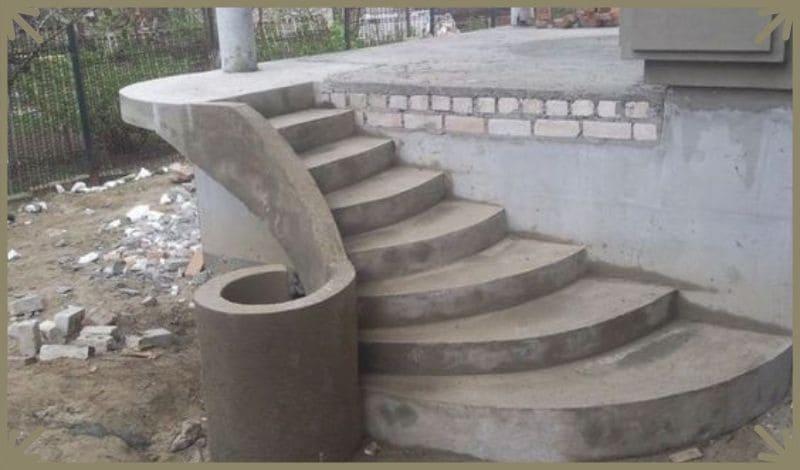 Крыльцо для дома из бетона
